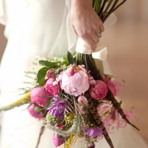 pink-peony-wildflower-bridal-bouquet-spring-wedding-flowers