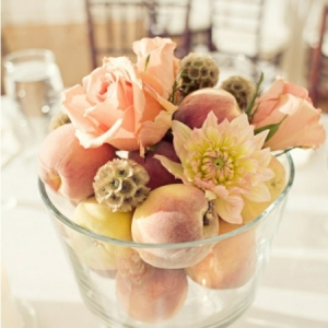 peach-flower-wedding-centerpiece