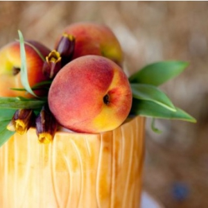 peach-wedding-centerpiece