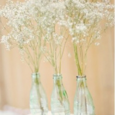 babys-breath-in-coke-bottles-bridalmusings