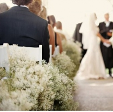 babys-breath-lining-the-aisle-ruffledblog
