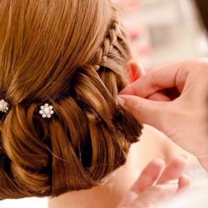 pink-wedding-hair-style-braids