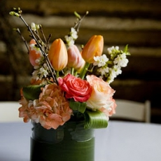 coral-and-green-rustic-centerpiece