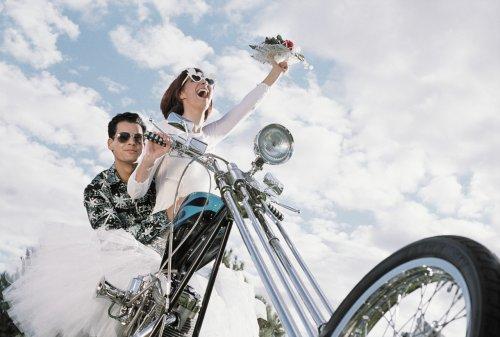 мотоцикл для свадьбы