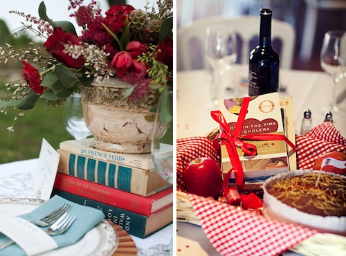 vintage-books-for-wedding-table-decorations