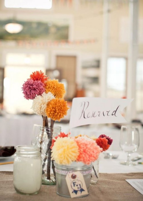 yarn-poofball-wedding-centerpieces-500x700