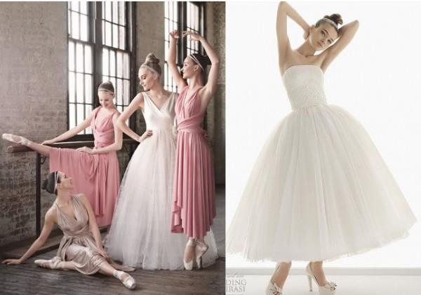 короткое свадебное платье невесты балерина балет
