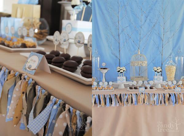 ukrashenie-desertnogo-stola-poloskami-tkani-derevenskii-stil-svadba