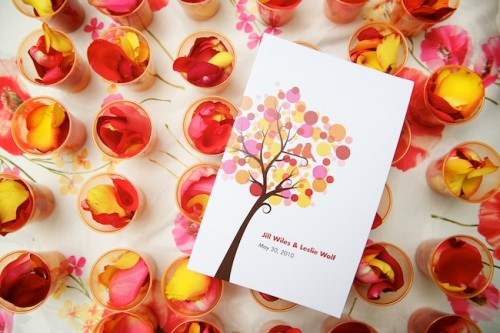 Orange-and-Pink-Wedding-Program-500x333