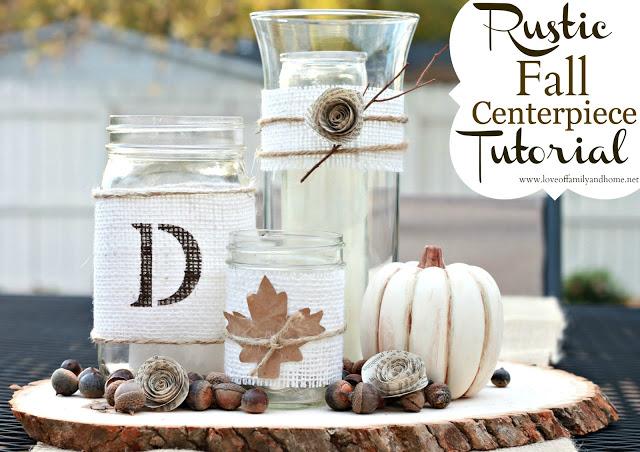 DIY Rustic Fall Centerpiece Tutorial 01