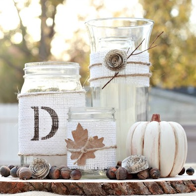 DIY Rustic Fall Centerpiece Tutorial 2 - копия