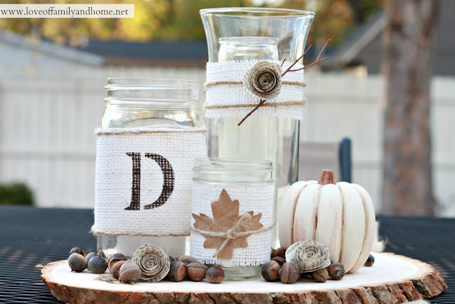 DIY Rustic Fall Centerpiece Tutorial 26