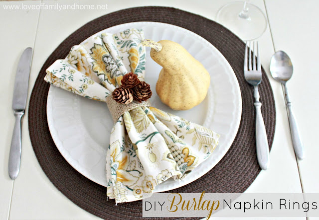 DIY Burlap Napkin Rings Tutorial