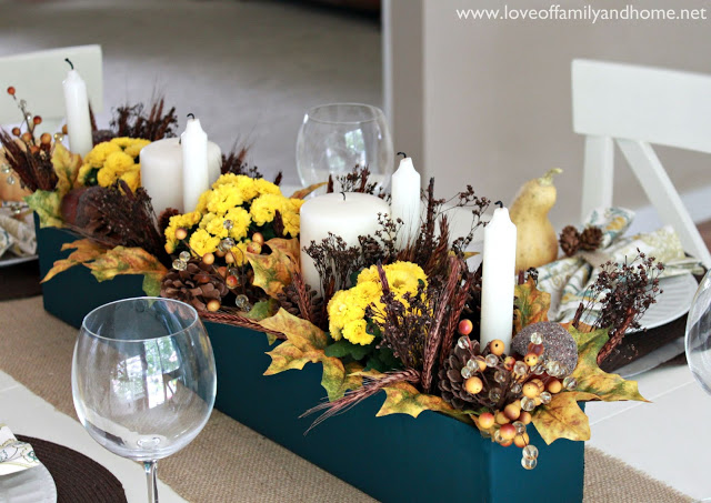 Teal & Yellow Fall Tablescape 035 edited