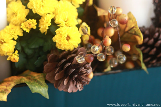 Teal & Yellow Fall Tablescape 046 edited