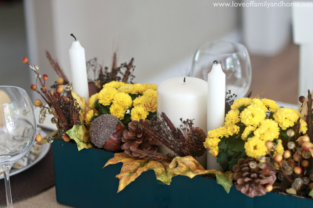 Teal & Yellow Fall Tablescape 054 edited