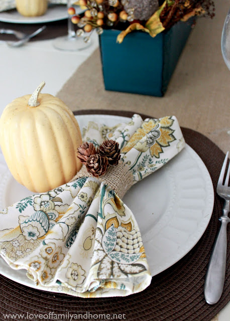 Teal & Yellow Fall Tablescape 128 edited